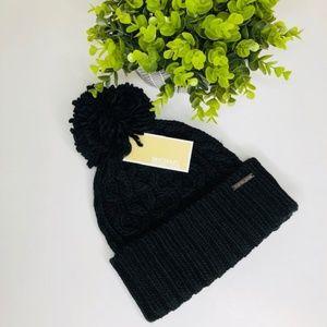 Michael Kors Pompom Cable Knit Beanie NWT